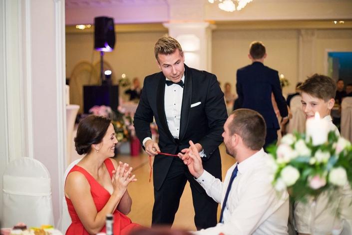 Pokazy iluzji na weselu